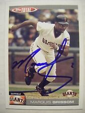 MARQUIS GRISSOM signed SF GIANTS 2004 Topps Total baseball card AUTO Autographed