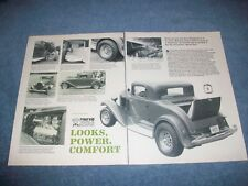 "1932 Plymouth 3-window Coupe Vintage Street Rod Article ""Looks, Power, Comfort"""