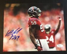 WHITNEY MERCILUS Signed Autograph Football 8x10 Photo JSA U33209 HOUSTON TEXANS