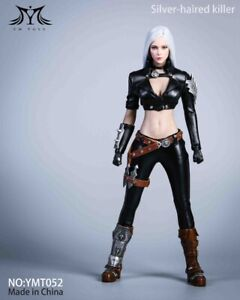 YMTOYS YMT052 1/6 Female Assassin Head & Leather Combat Clothes Fit TBL Figure
