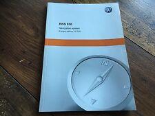 VW VOLKSWAGEN RCD 850 RCD850 NAVIGATION AUDIO CD HANDBOOK OWNERS USER MANUAL