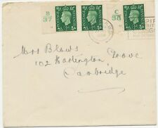 GB 1938 George VI 1/2D multiple postage (3x) + mixed postage 2 covers w CONTROLS