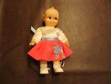Vintage 1950s 60s Rubber Kewpie Girl Doll In Poodle Dress