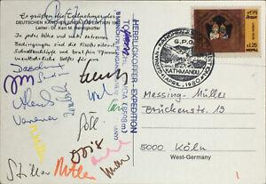 Kanchenjunga Herrligkoffer-Expedition 1980 signiert von 18 Teilnehmern Pakistan