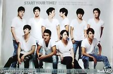 "SUPER JUNIOR ""START YOUR TIME!"" ASIAN POSTER - Korean K-Pop Music, Boy Band"