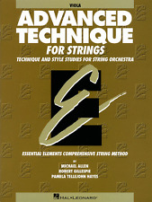 ESSENTIAL ELEMENTS-ADVANCED TECHNIQUE FOR STRINGS-VIOLA MUSIC BOOK-NEW ON SALE!!
