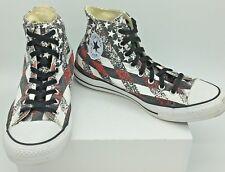 Converse Chuck Taylor Stars Stripes Black White Red High Top Sneakers Sz  M11 W13 d4ef418cf