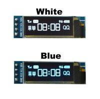 0.91'' 128x32 IIC I2C White & Blue OLED Display Module DC3.3V 5V For PIC Arduino