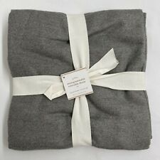 NEW Pottery Barn Monogrammable Reversible Throw Blanket 50 x 60 inches, Gray
