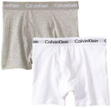 RARE Calvin Klein 365 Garçons Sous-vêtements 2 boxers gris blanc XL 16-18 envoi gratuit