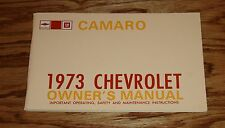 1973 Chevrolet Camaro Owners Operators Manual 73 Chevy