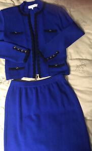 Women's St. John Collection By Marie Gray Suit-Jacket (sz P) And Skirt (sz 4)