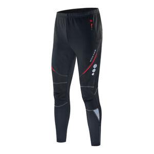 Mens Cycling Casual Pants Mountain Bike Sports Hiking Fleece Long Trousers Warm