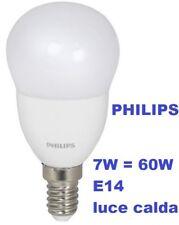 PHILIPS LAMPADINA LED 7W  60W E14  SFERA mini globo luce calda