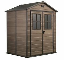 Keter Plastic Garden Shed Scala 6 x 5ft Stunning Looking!! 15 year Guarantee