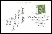 OREGON DIAMOND LAKE POST OFFICE LAST DAY SEPTEMBER 6 1948 POSTCARD TO MENASHA WI