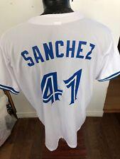 Adult XLarge MLB Baseball Jersey Toronto Blue Jays #41 Aaron Sanchez SGA