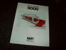 MASSEY FERGUSON 9000 COMBINE GRAIN HEADER BROCHURE LITERATURE ADVERTISING