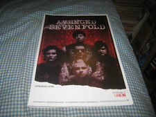 AVENGED SEVENFOLD-(appearing live)-1 POSTER-11X17-NMINT-RARE