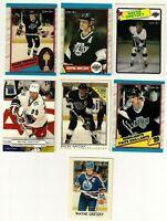 Lot of 7 Wayne Gretzky Hockey Cards OPC Upper Deck Nrmt to Nrmt-Mt