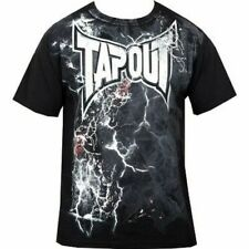 Tapout Mens MMA Combustion Black T Shirt - Medium Casual Wear Tops Martial Arts