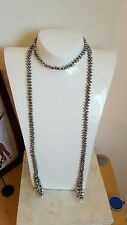 Silver Ethnic long 3 in one  beaded necklace