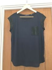Espirt Ladies T Shirt Top Navy Blue Black Size Large