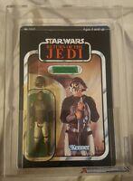 Star Wars AFA 70y 85 60 85  Lando skiff guard Figure 65 back ROTJ