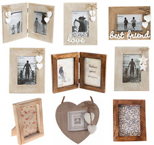 Natural Wood Single Double Triple Photo Picture Frames Home Decoration Gift