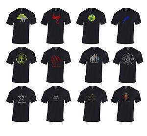 Personalised Ringspun Cotton t-shirts METALLIC GLOSSY GRAPHIC 14 designs