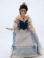 Dollhouse Miniature Porcelain Doll French18thC Dress Artisan Lilli Ann Hamilton