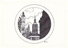 Pen Sketch Unknown Postcard Unused VGC
