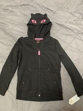 New L (10/12) Black Cat & JacK Ears Hoodie Halloween Costume Sweatshirt Girls