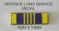 DEFENCE LONG SERVICE MEDAL RIBBON BAR 5MM X 19MM ENAMEL & NICKEL PLATED