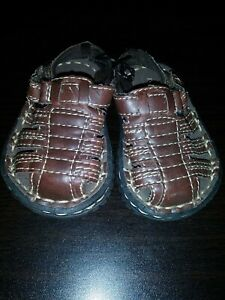 Faded Glory Infant Toddler Boys Closed Toe Sandals Brown Casual  Various Sizes