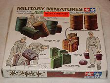 TAMIYA 1:35 JERRY CANS SET Fässer und Kanister Wehrmacht WW2 Vintage 70s 60s