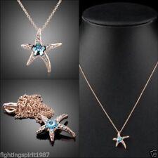 Cubic Zirkonia-Modeschmuck-Halsketten & -Anhänger aus Rotgold