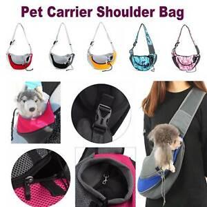Pet Carrier Cat Puppy Dog Carrier Sling Front Mesh Travel Tote Shoulder Bag