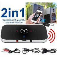 Bluetooth V4 Transmitter Receiver Wireless A2DP Audio 3.5mm Aux Adapter Hub neu