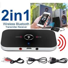 Bluetooth V4.1 Transmitter & Receiver Wireless A2DP Audio 3.5mm Aux Adapter Hub#