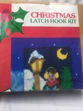 "ADCO Latch Hook Kit Patchwork Christmas Caroler 20""x27"" New"