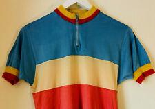 Vintage Sergal Silk Track Cycling Jersey, 1970s/80s, Size 3