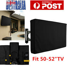 50 Inch Waterproof Television Cover, Outdoor TV Cover Black AU