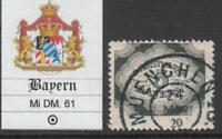 GERMANY  - BAYERN Mi DM 61 used