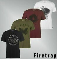 Mens Firetrap Crew Neck Short Sleeves Soft Graphic T Shirt Sizes from S to XXL