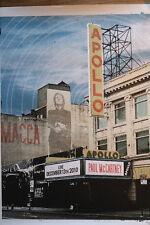 Paul mc cartney live at the apollo theater 2010 rare poster lithograph