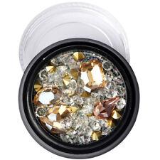 Fashion Nail Art Rhinestones Glitter Diamond Tips 3D Tips DIY Decoration Box Kit