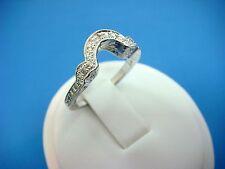14K LADIES ENGAGEMENT DIAMOND WEDDING BAND-RING, 4.2 GRAMS, SIZE 6.5