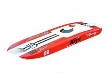 DT RC Boat Hull E32 Glass Fiber Colored KIT for Advanced Player Red Racing