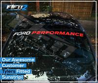 Ford Performance Fiesta ST Focus Sunstrip Zetec RS Sun Strip Decal Sticker